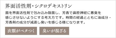 界面活性剤・シクロデキストリン